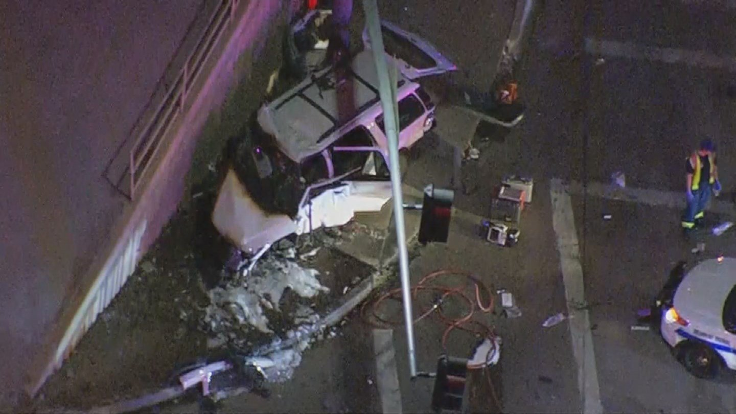 Police have identified three of the victims in the fiery Phoenix crash involving a stolen SUV being driven by a 14-year-old boy. (Source: 3TV/CBS 5)