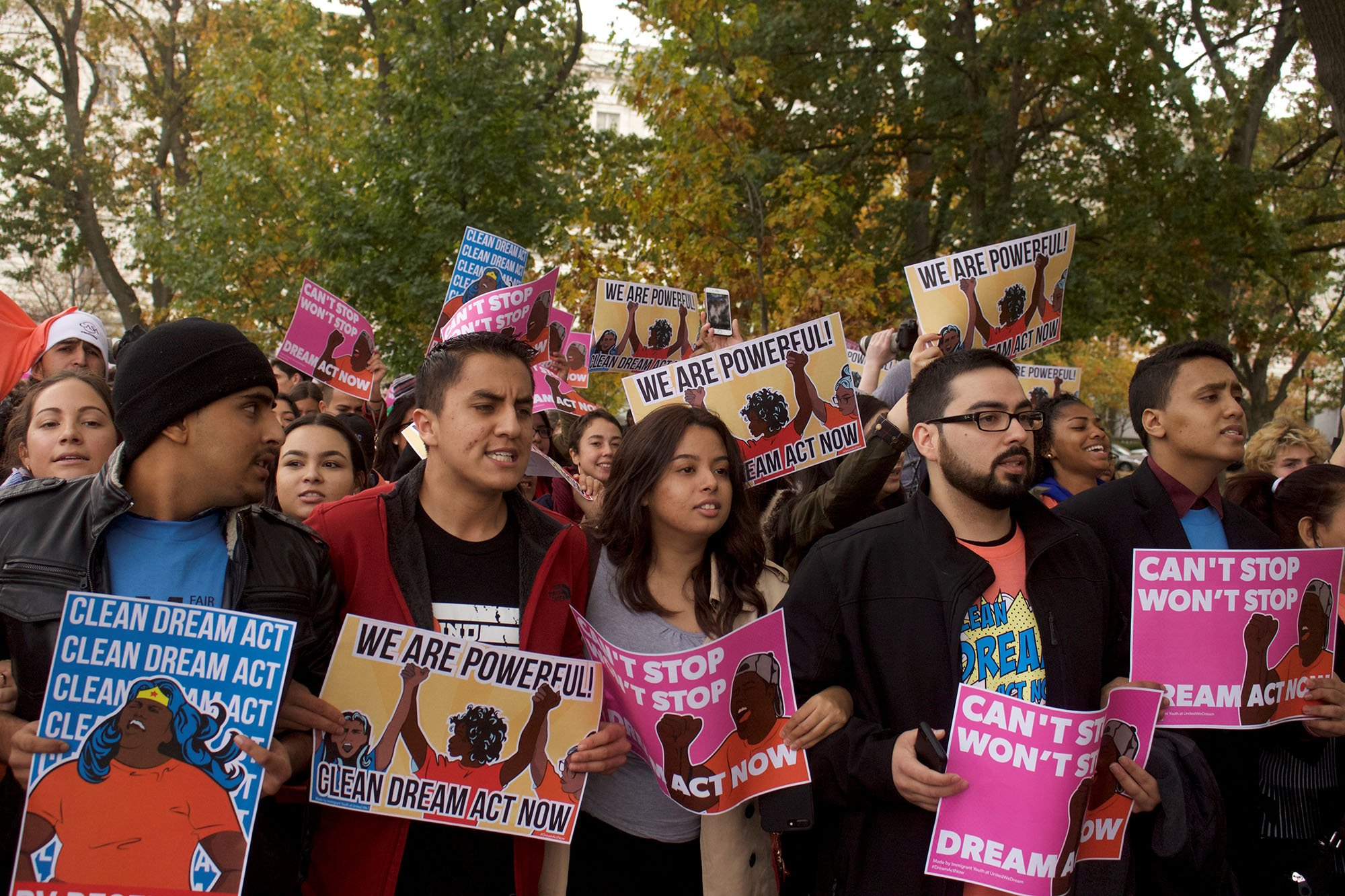 Many of the more than 1,000 protesters who showed up for Thursday's events in Washington were DACA recipients or their friends or family, including dozens who came from Arizona. (Photo by Andrew Nicla/Cronkite News)