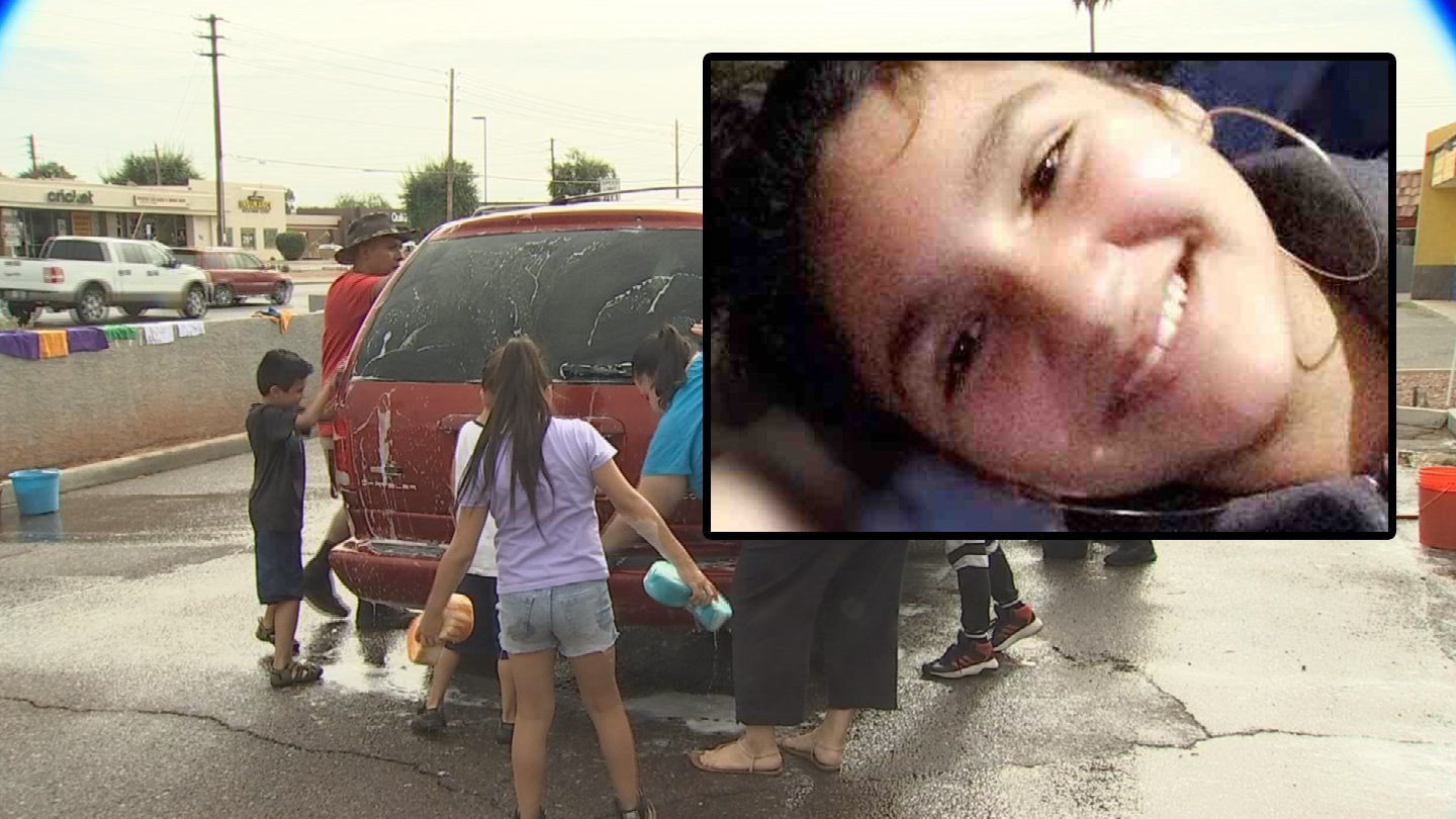A car wash was held near 75th Avenue and Indian School Road for Ariella Santos. (Source: 3TV/CBS 5/GoFundMe)