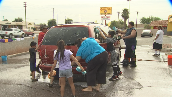 People from around the community came and donated whatever they could at the car wash, whether that was money, food or drinks. (Source: 3TV/CBS 5)