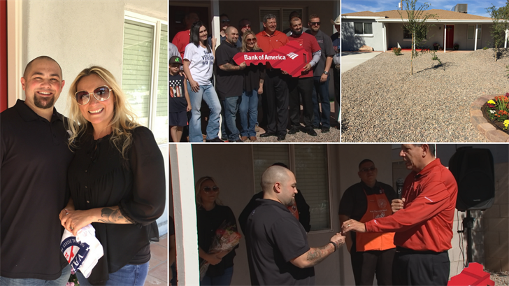 Marine Corps. veteran Lance Cpl. Graham Dorsey was given a mortgage-free house for his family in Phoenix. (Source: 3TV/CBS 5)