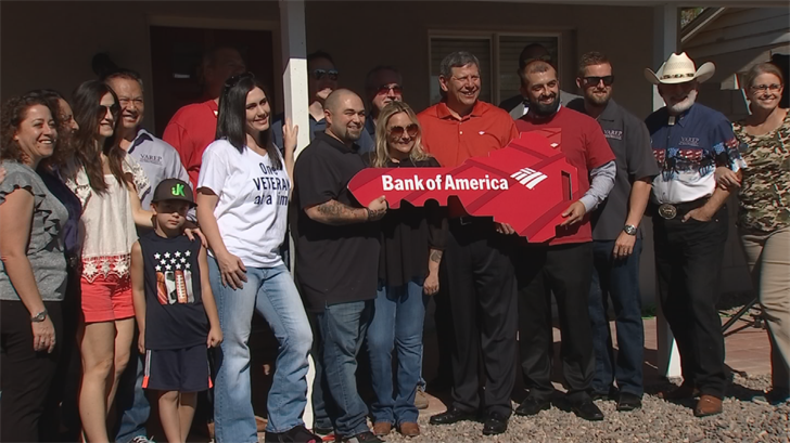 The home was donated by the Veterans Association of Real Estate Professionals (VAREP) in partnership with Bank of America. (Source: 3TV/CBS 5)