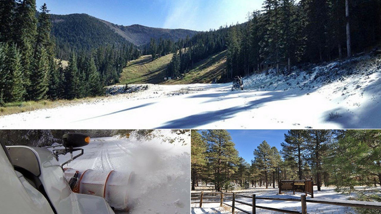 Not many people think of Arizona as a winter wonderland but Arizonans know there are plenty of places around the state that offer a fun-filled snow adventure. (Source: Snowbowl, Pinal County, Forest Services)