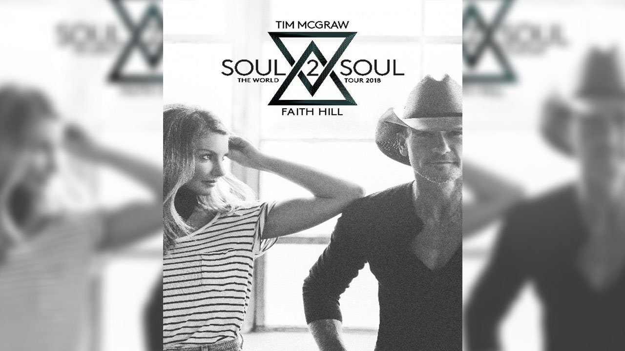 Grammy-award winners Tim McGraw and Faith Hill have extended their 80 date North American tour, Soul2Soul The World Tour 2017, with 25 additional dates in 2018 announced last week. (Source: Soul2Soul)