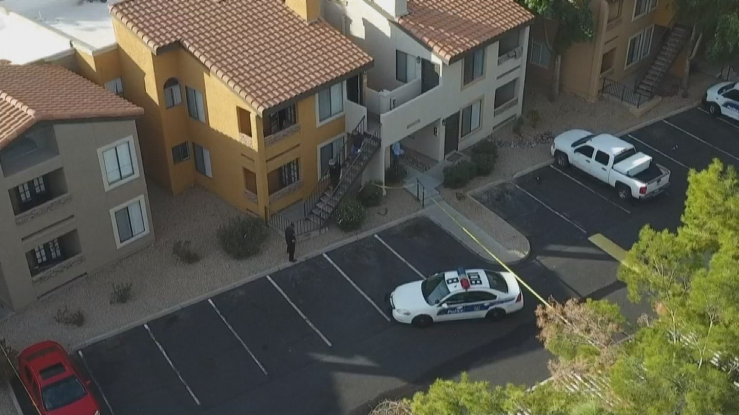 This a drone view of the crime scene on Monday morning. (Source: 3TV/CBS 5)