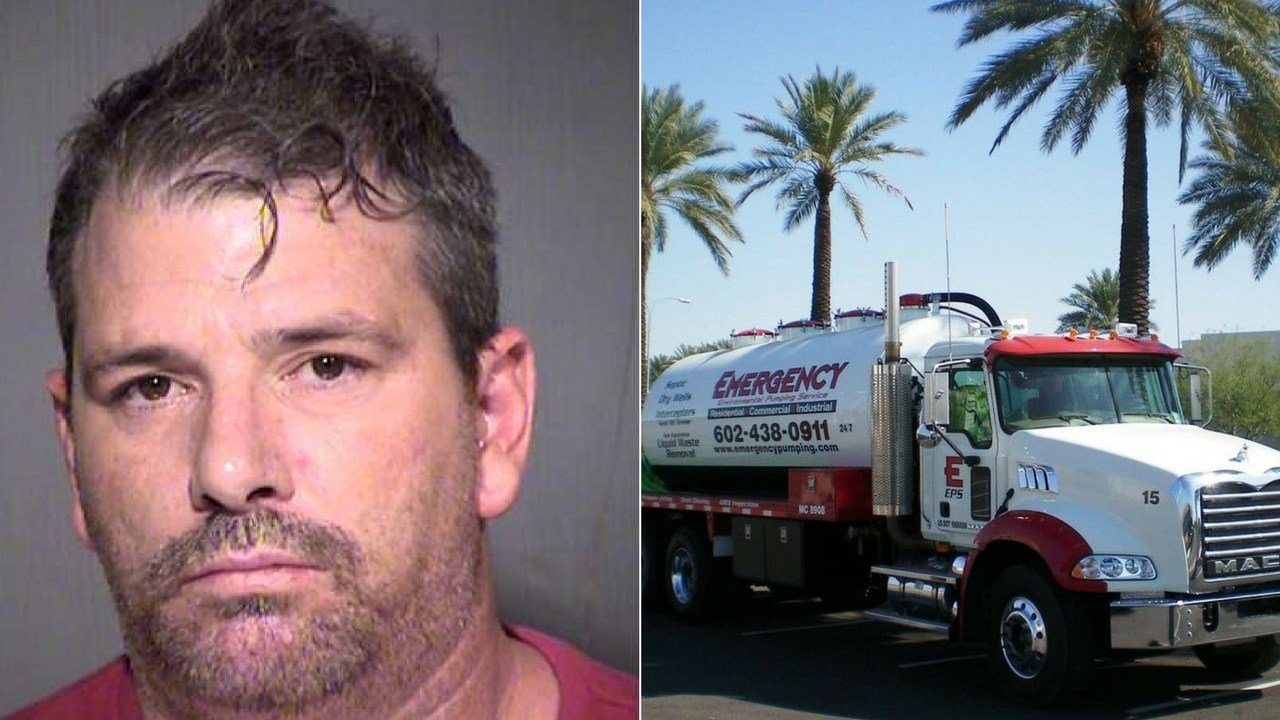 Authorities say an ex-truck driver for a Phoenix company who was indicted for dumping thousands of gallons of sewage into a school's storm drainage system has pleaded guilty and is facing prison time. (Source: AG's Office)