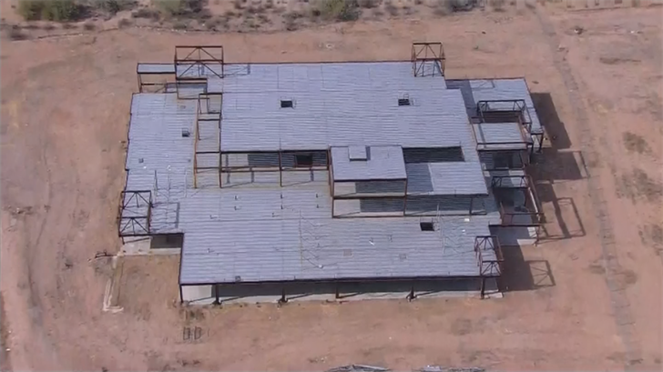 The City of Peoria said the unfinished rustystructure has been abandonedfor at least five years. (Source: 3TV/CBS 5)