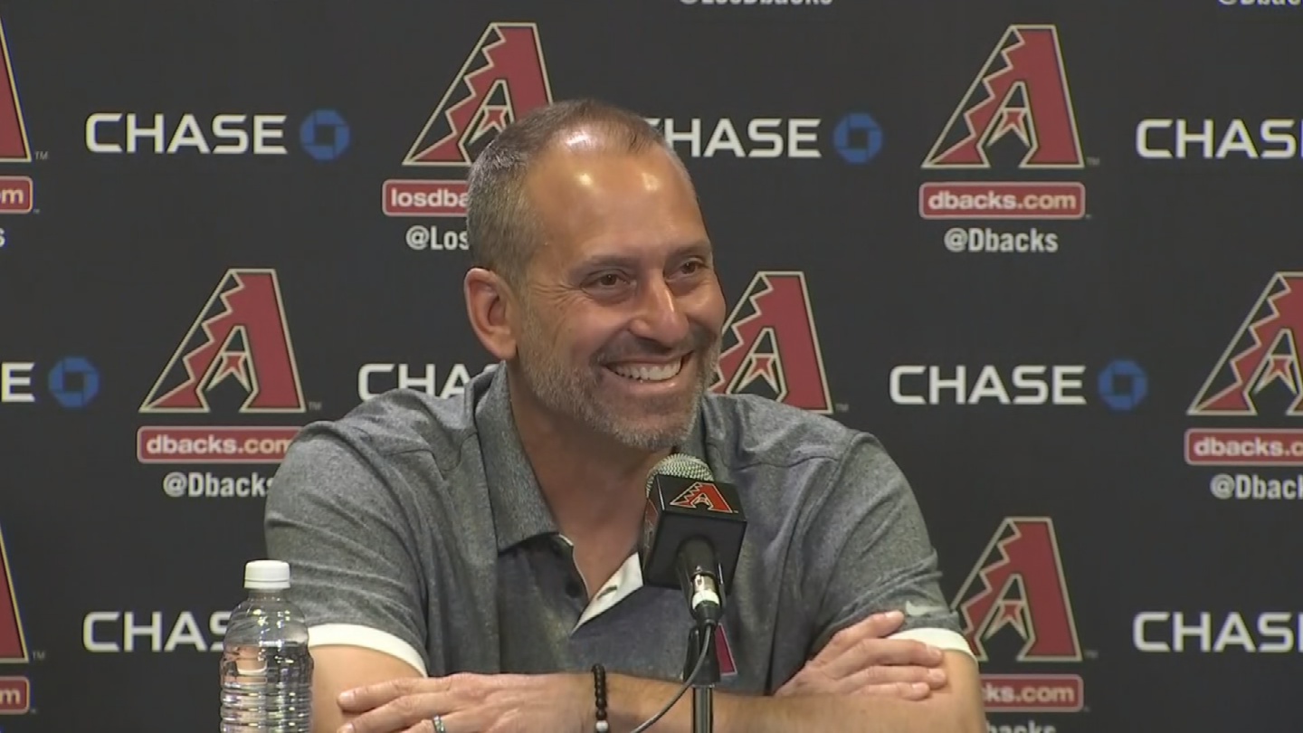 D-backs skipper Torey Lovullo was all smiles when talking about winning Manager of the Year. (Source: 3TV/CBS 5)