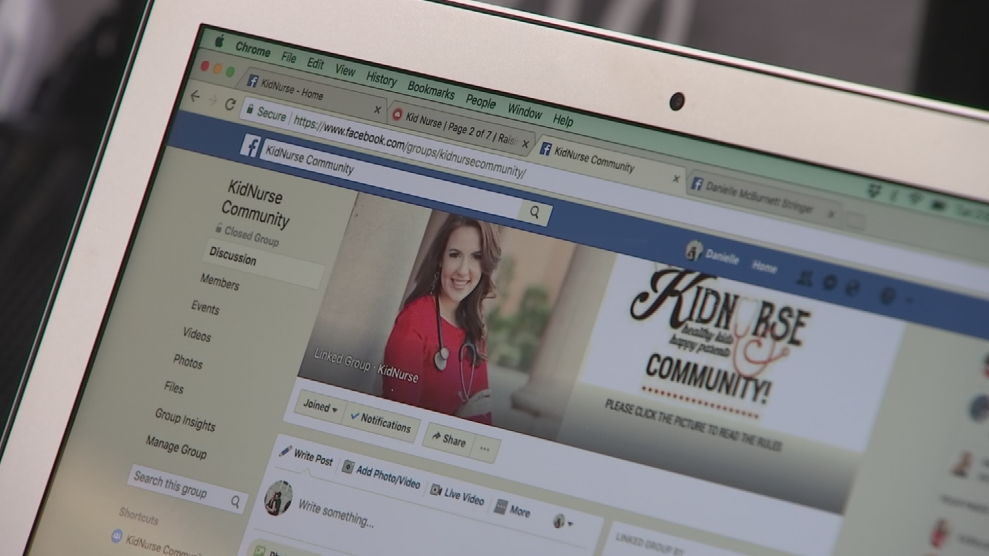 Besides the website, Danielle has moved into a creating a community on Facebook. (Source: 3TV/CBS 5)