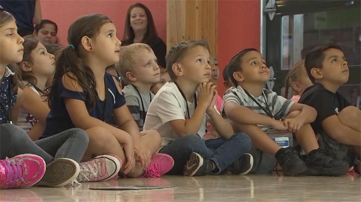 First graders at Roadrunner Elementary School in Phoenix listened closely to an important life lesson. (Source: 3TV/CBS 5)