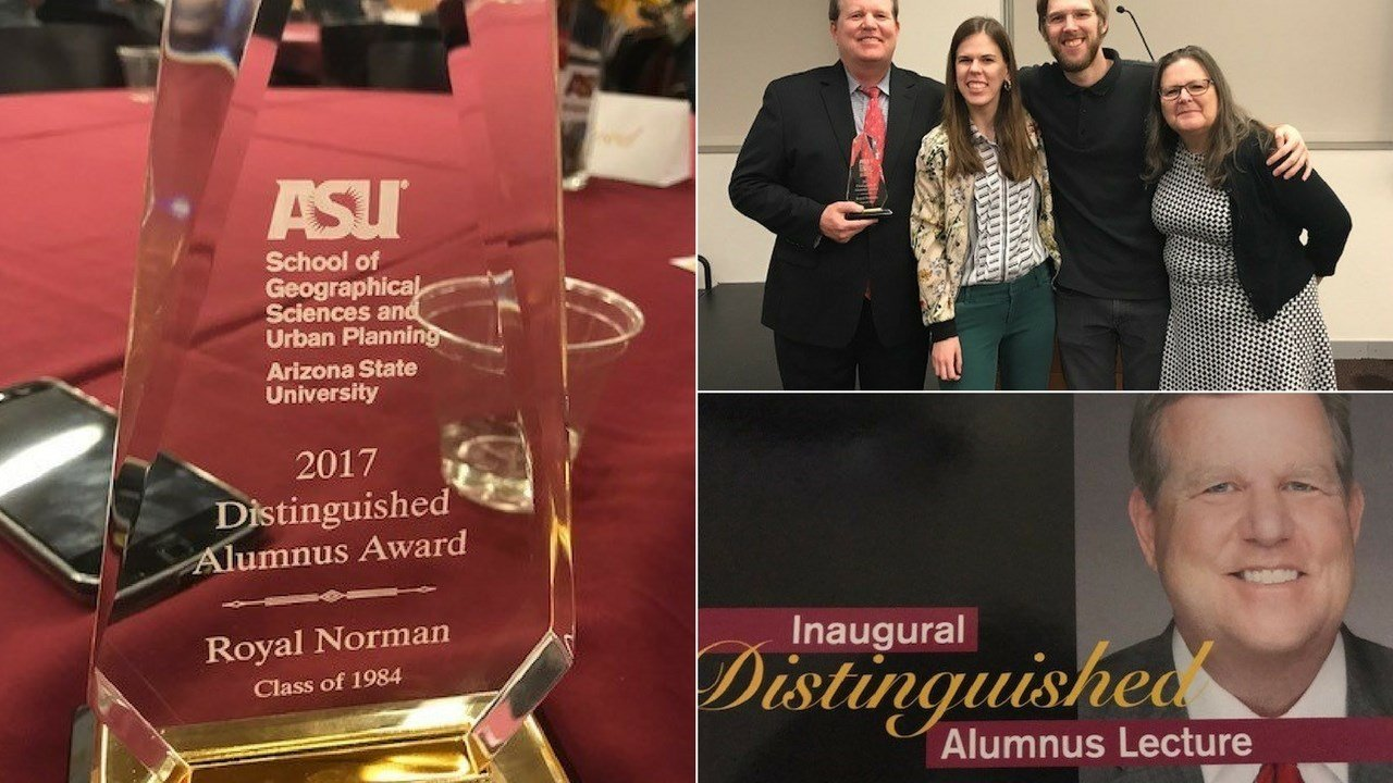 It was a big night for my buddy Royal Norman who was awarded the Distinguished Alumnus Award at Arizona State University. (Source: 3TV/CBS 5)