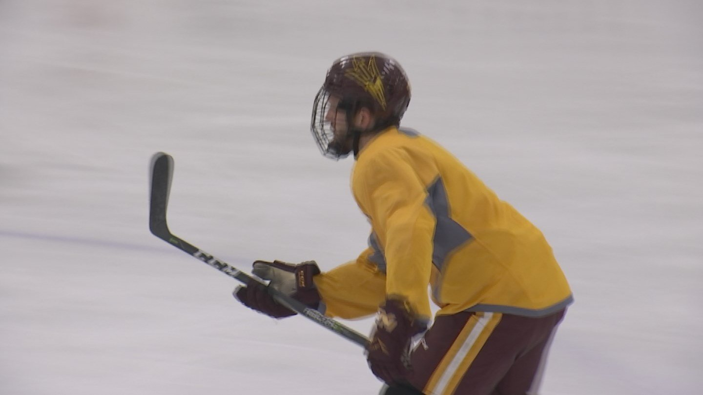 Greg Powers has been stewarding the ASU hockey team through the division-one waters now for three seasons. (Source: 3TV/CBS 5)