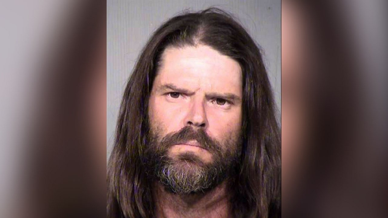 Bryan Thompson, 41 arrested on animal cruelty charges after police say he threw a dog into oncoming traffic on Nov. 7, 2017. (Source: Maricopa County Sheriff's Office)