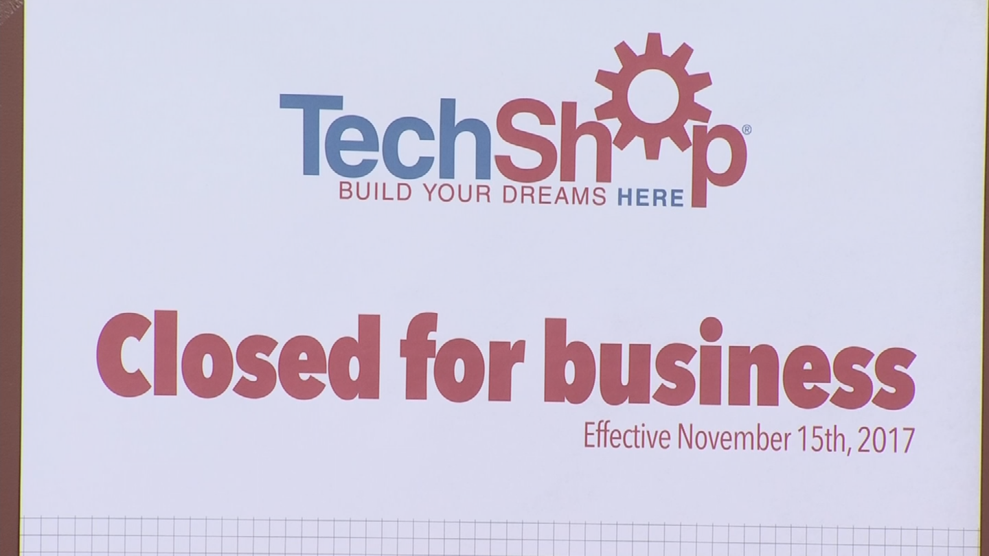 TechShop said the closure is because the company filed for Chapter 7 bankruptcy. (Source: 3TV/CBS 5)