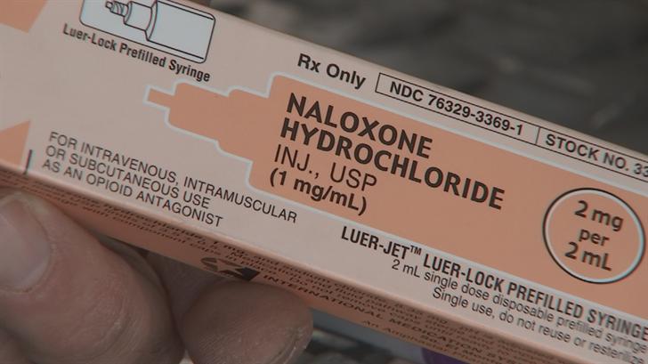"Crews are going through boxes of the overdose-reversing drug ""naloxone."" (Source: 3TV/CBS 5)"