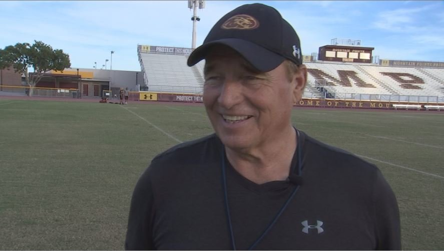 Mountain Pointe Coach Norris Vaughan has the Pride two wins from a state title. (Source: 3TV/CBS 5)
