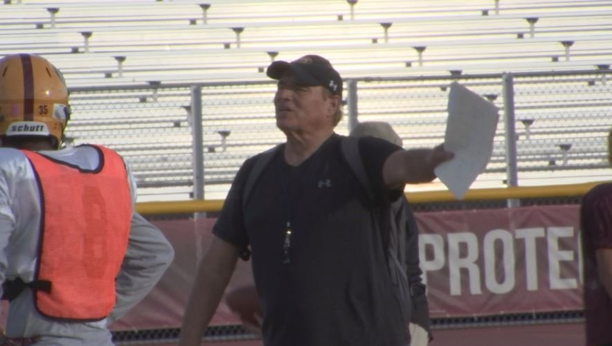 Mountain Pointe Coach Norris Vaughan take on Perry in the Arizona state playoffs on Friday night. (Source: 3TV/CBS 5)