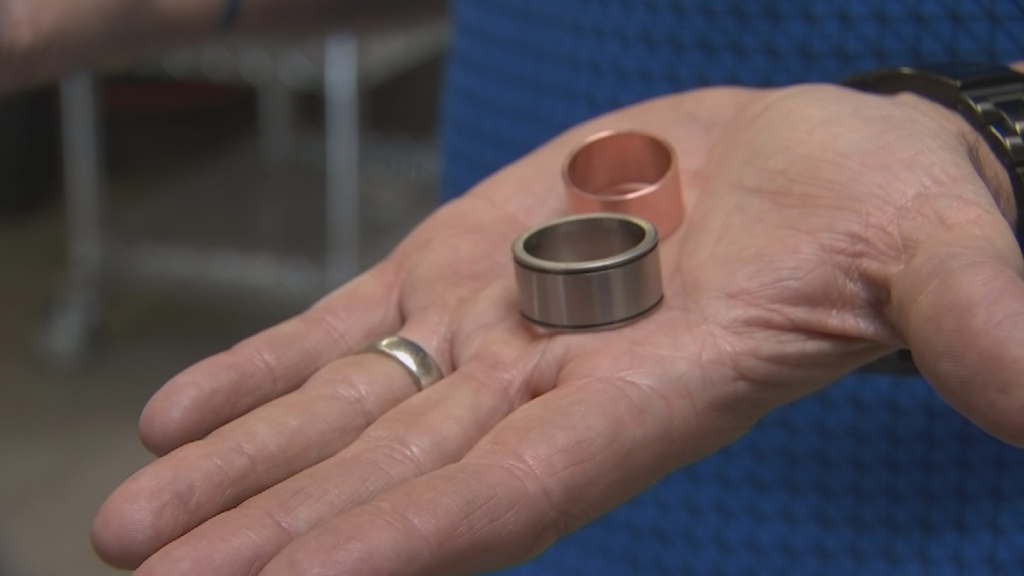 Hemenway was supposed to finish his high-tech ring at the Tech Shop yesterday, but couldn't because the machines to make the custom parts were shut off. (Source: 3TV/CBS 5)