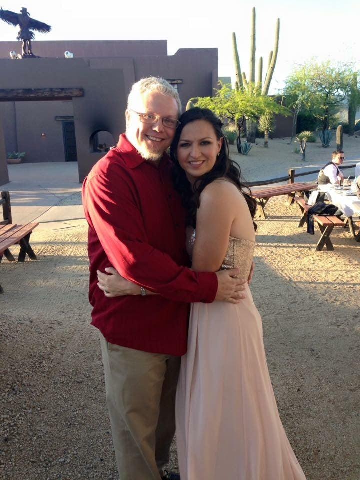 Hemenway with his fiancé Andrea. (Source: Tom Hemenway)