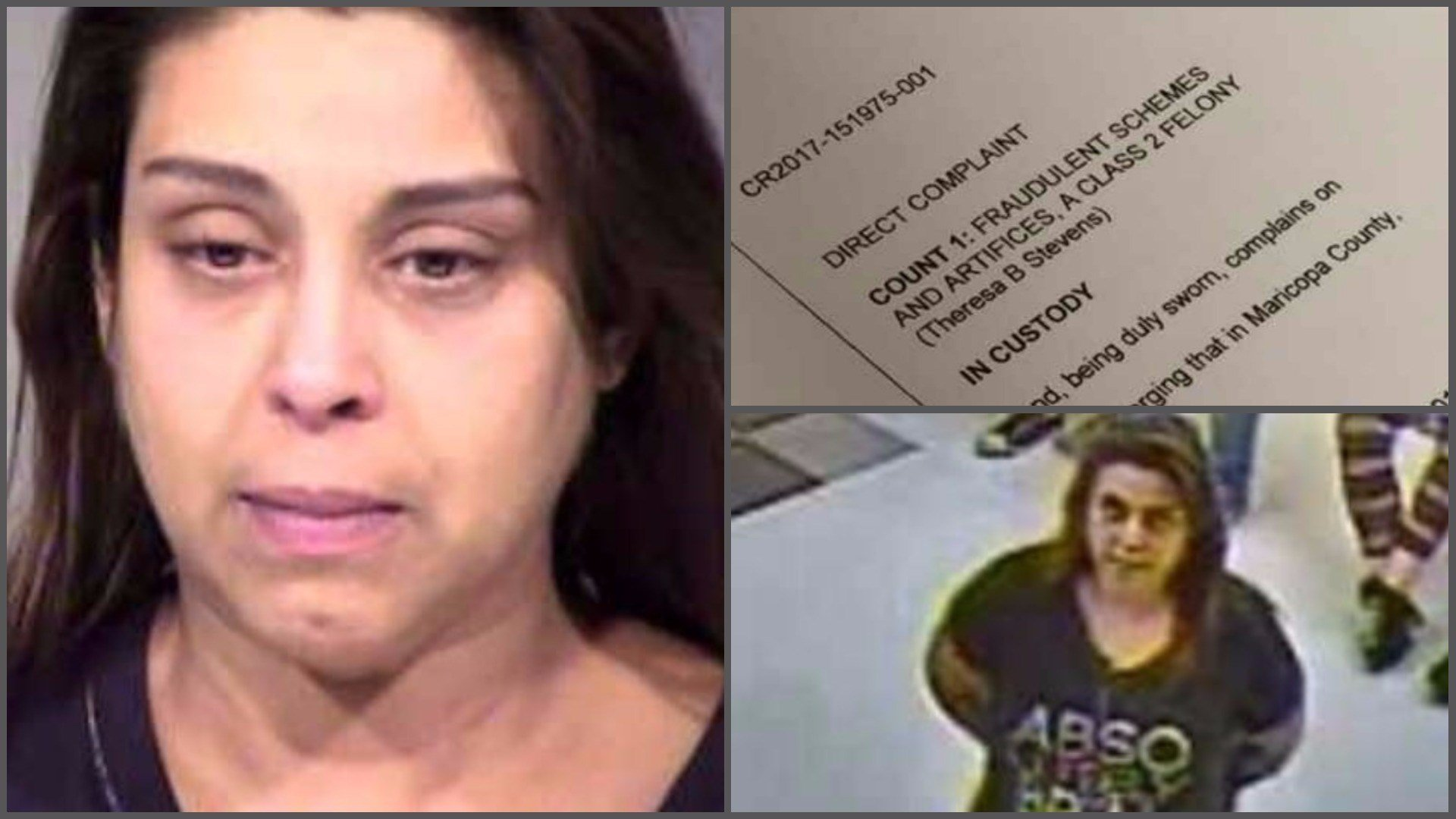 According to court records, Theresa Stevens pretended to be the Glendale grandfather's caregiver and close friend and then methodically tricked him into giving her more than $164,000. (Source: 3TV/CBS 5)