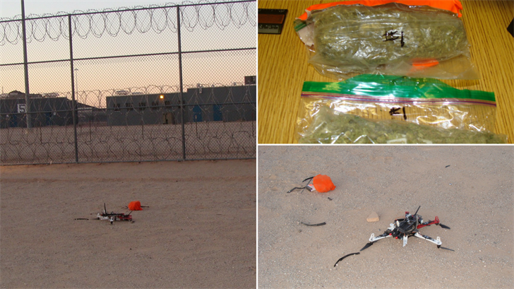 A drone carrying contraband crashed at a prison in Buckeye. (Source: AZDOC)