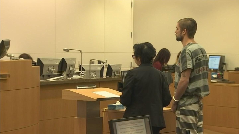 Charlie Malzahn, 27, appears before a judge on Nov. 17, 2017 for robbery and third-degree burglary. Malzahn is the prime suspect in the murder of Glendale teacher, Cathryn Gorospe. (Source: 3TV/CBS 5)