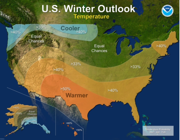 NOAA 2017-18 Temperature outlook (Source: NOAA.gov)