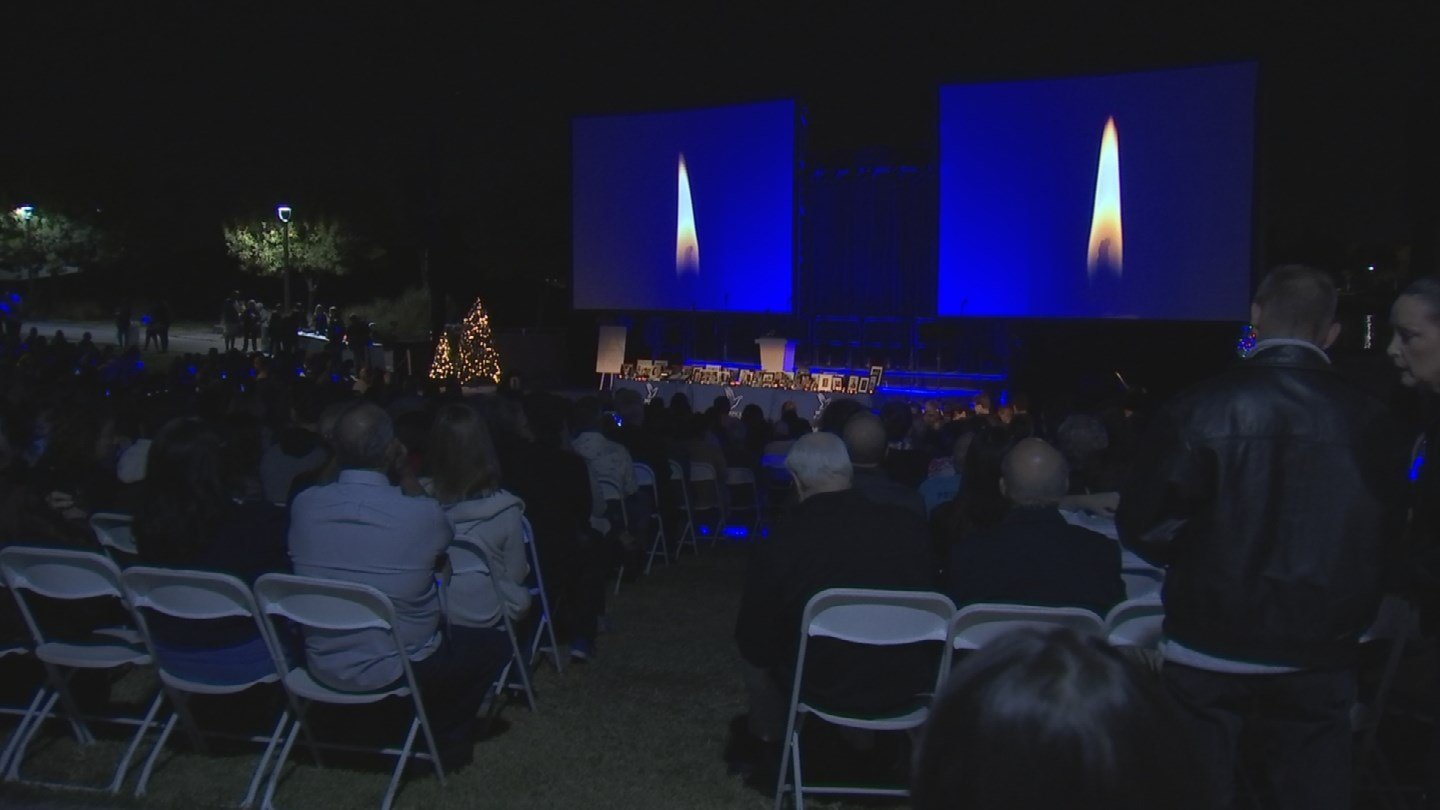 "Thousands gathered Sunday to celebrate those loved ones at an event called ""Light Up a Life."" (Source: 3TV/CBS 5)"