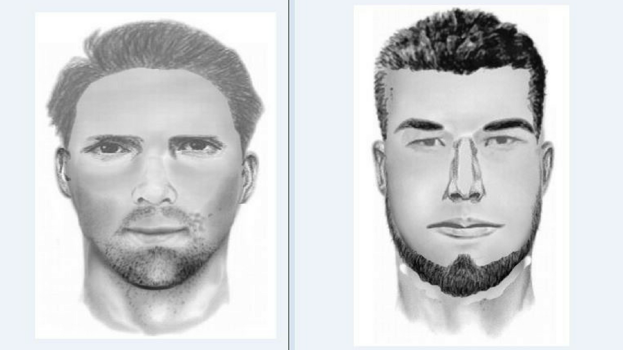 Police said these composite sketches are of the same man in both incidents. (Source: Glendale Police Department)