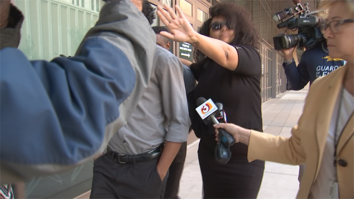 Thomas and his mother remained quiet outside of court. (Source: 3TV/CBS 5)