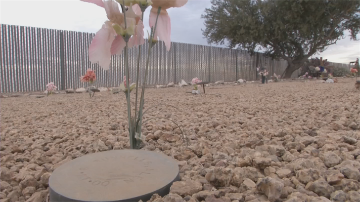 The graves are only identified by a small, metal disk that mark each individual's resting place. (Source: 3TV/CBS 5)