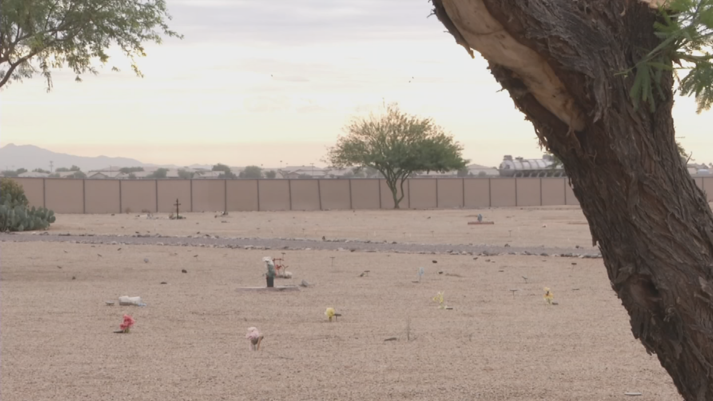 Nearly 6,000 people have been buried at the Litchfield Park cemetery since its opening in 1994. (Source: 3TV/CBS 5)