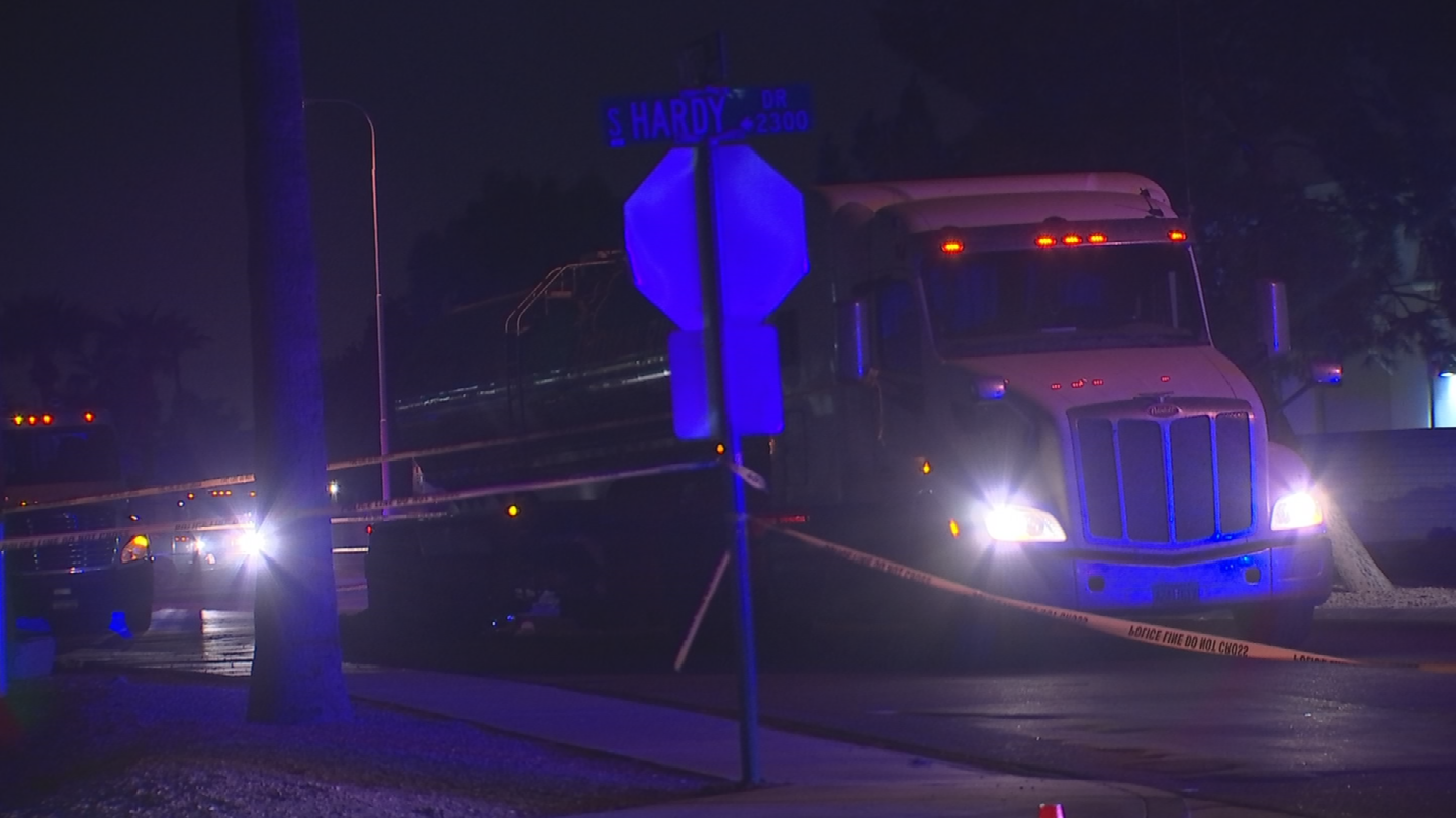 A woman was on a motorized scooter when she was hit. (Source: 3TV/CBS 5)