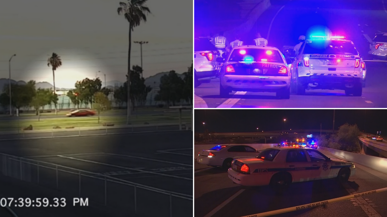 Authorities released the 911 calls made during the summer when a wrong-way driver went from Phoenix Sky Harbor to the Mini-Stack and crashed. (Source: 3TV/CBS 5)