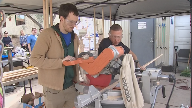 The group of autistic young adults is using Hacienda HealthCare's maintenance shop. (Source: 3TV/CBS 5)