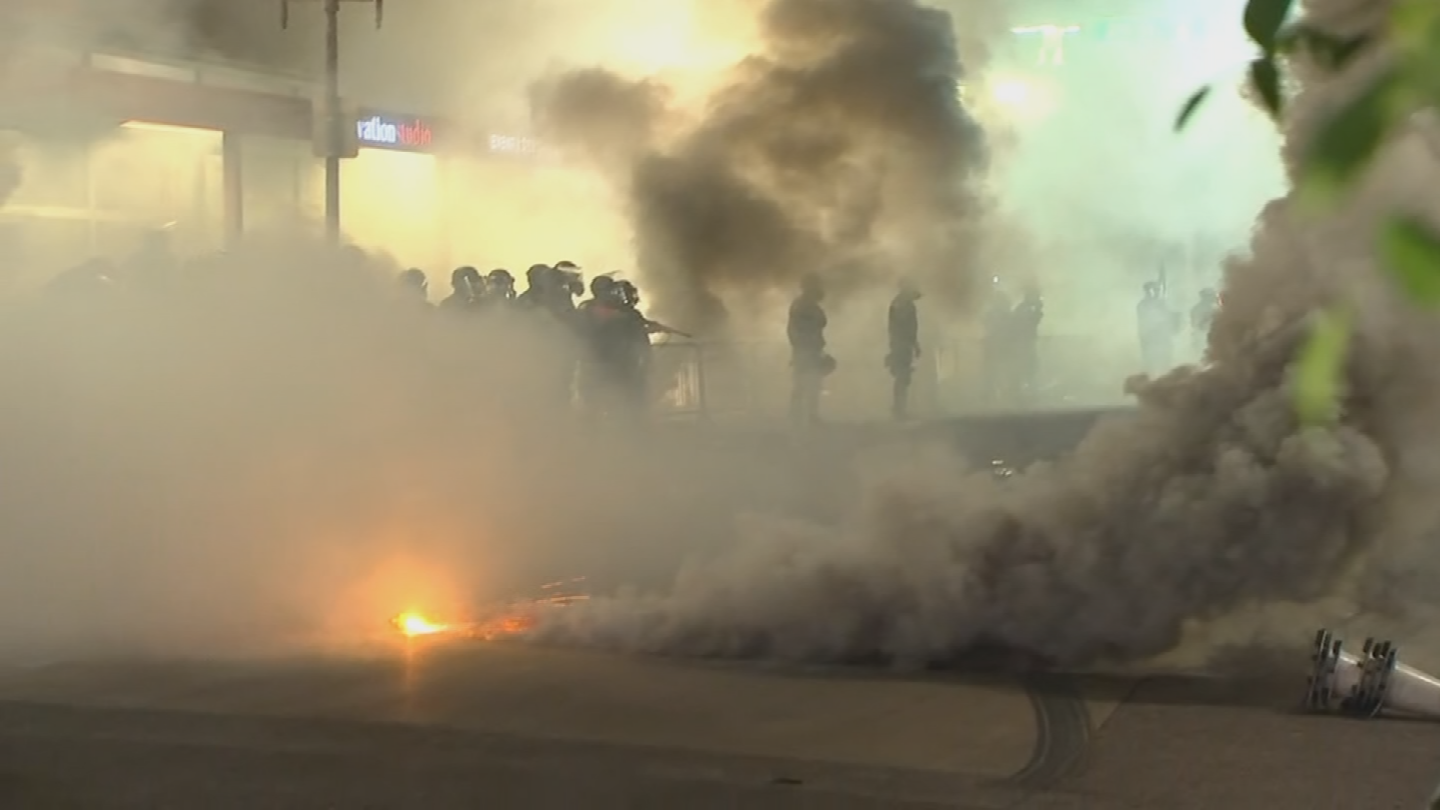 The Phoenix police maintain records are still being reviewed but released an edited video days after the riot as they explained protestors were throwing rocks and bricks at officers. (Source: 3TV/CBS 5)