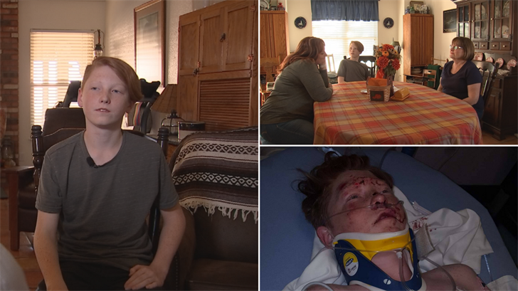 C.J. Biehl is still healing from being struck by a hit-and-run driver. (Source: 3TV/CBS 5)
