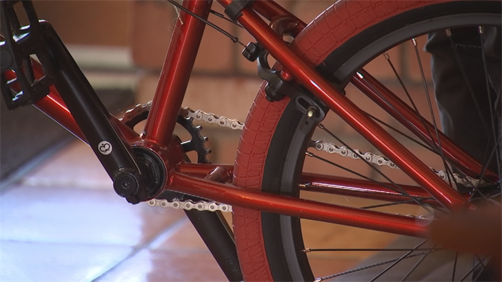 A few weeks ago, his friends chipped in and bought the teenager a new bicycle but he can't ride it yet. (Source: 3TV/CBS 5)