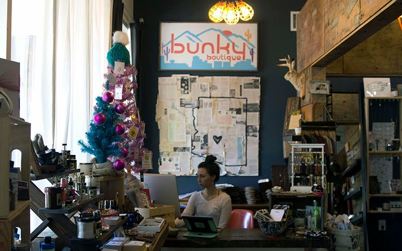 Bunky Boutique, owned by Rachel Cary, opened its doors in September 2007. It has since expanded to the Phoenix Sky Harbor International Airport. (Source: Alyssa Williams/Cronkite News)