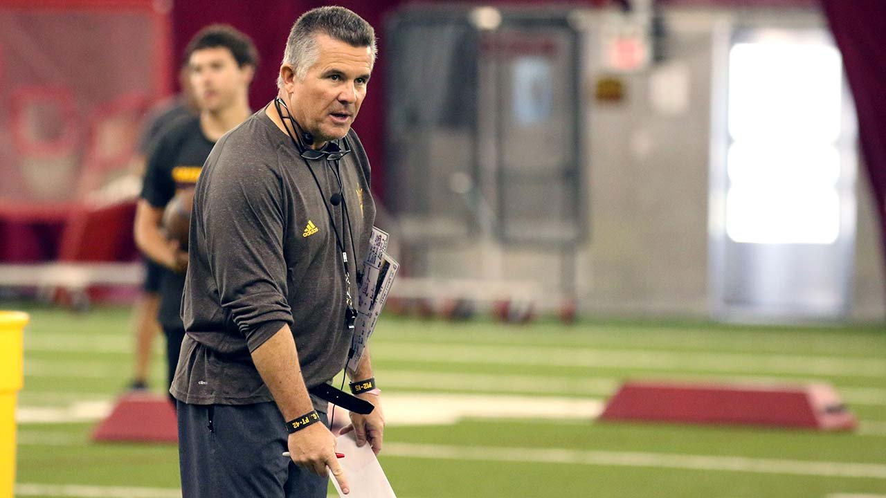 Arizona State coach Todd Graham feels his team is more confident entering the Territorial Cup than last season. (Source: Mauricio Casillas/Cronkite News)