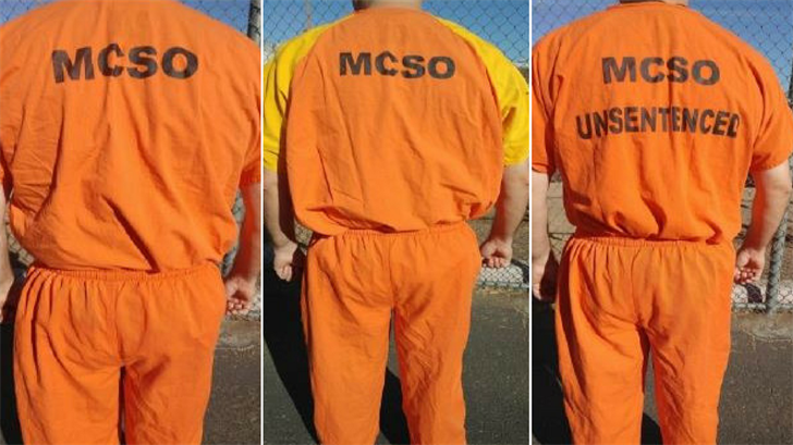 MCSO jail inmates will wear orange uniforms instead of black-and-white ones. (Source: MCSO)