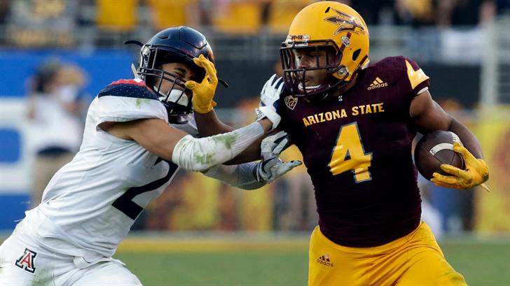 ASU RB Demario Richard runs against Arizona (AP Photo/Rick Scuteri)