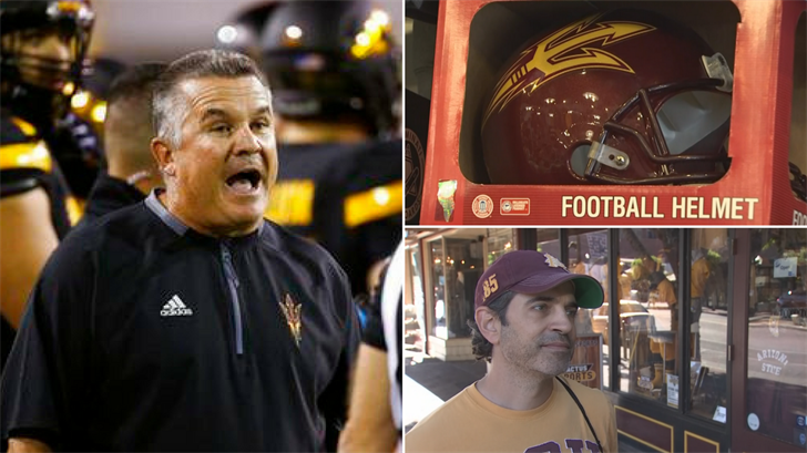 Todd Graham was fired but some fans wanted him to stay. (Source: 3TV/CBS 5/AP)