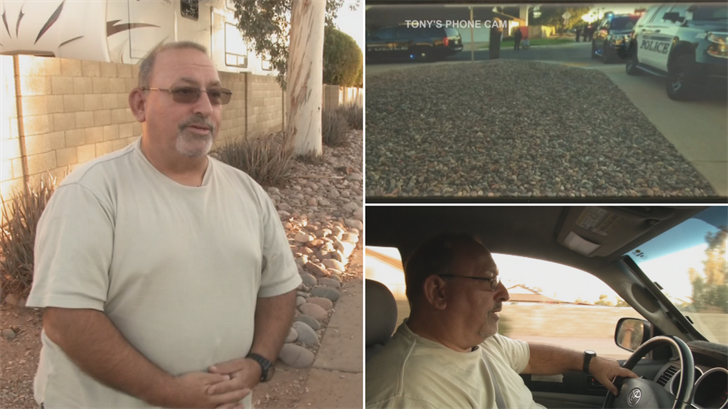 Tony Bafaloukos is an Uber driver who was pulled over by the police because of who he picked up for a fare. (Source: 3TV/CBS 5)