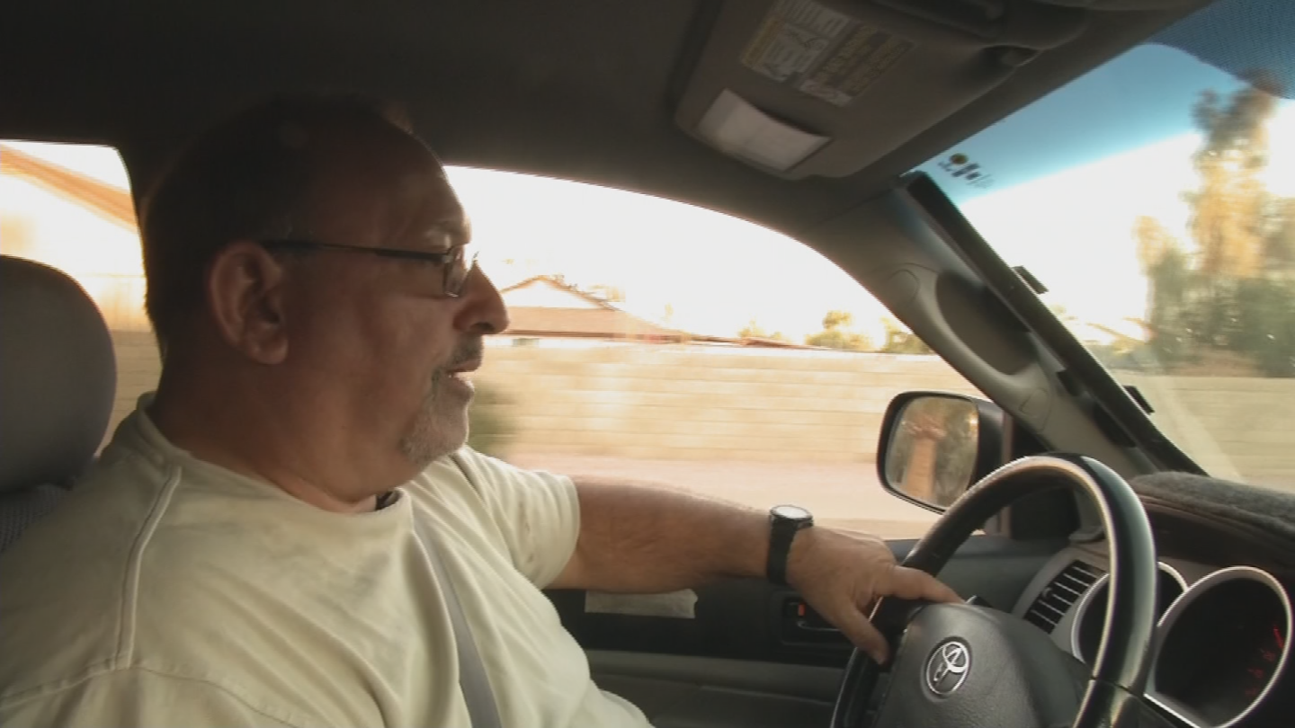Bafaloukos has been driving with Uber for over a year. (Source: 3TV/CBS 5)