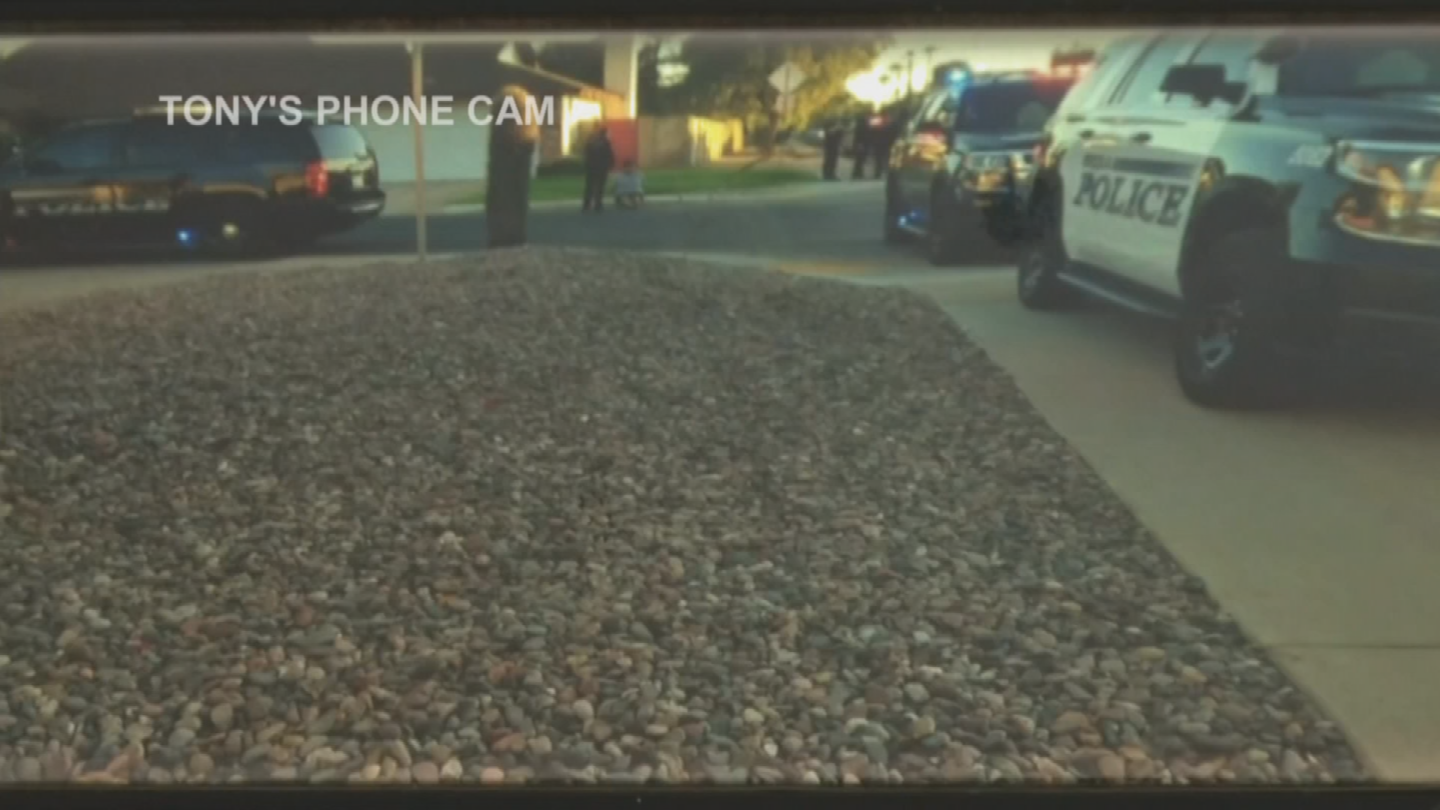 It's a felony stop, apparently, the police believed the women might have been armed. (Source: 3TV/CBS 5)