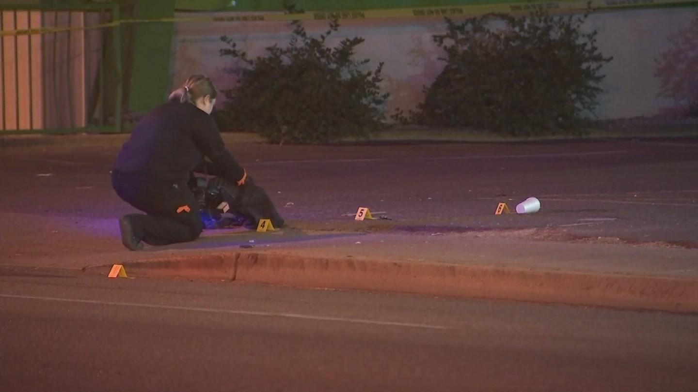Scene of first shooting near 27th Avenue and Van Buren Street. (Source: 3TV/CBS 5)
