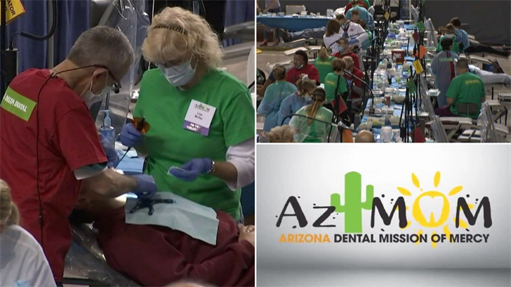 About 1,700 volunteers plan to do dental work for free for thousands in Phoenix. (Source: 3TV/CBS 5)