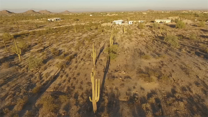 Footage from our drone shows the two properties are near each other but there's an enormous difference. (Source: 3TV)