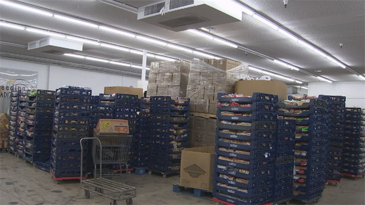 The truck was able to haul around 4,000 pounds of food a day. (Source: 3TV/CBS 5)